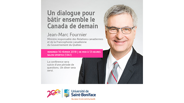 Le ministre Jean-Marc Fournier poursuit le dialogue lors de sa mission � Winnipeg, au Manitoba